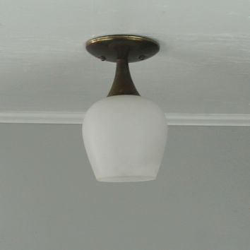 Mid Century Tulip Flush Mount Light