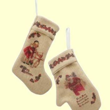 Stocking and Mitten Ornaments - Only 6 Sets Left