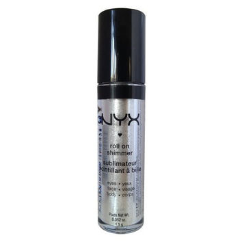 NYX Roll on Eye Shimmer / Platinum-Ice White w Silver Glitter for Face,Eyes&Body