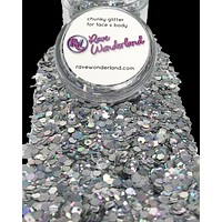 Silver Chunk Body and Face Festival Glitter (Large 15 Grams)