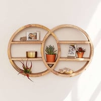 Dahlila Double Round Wall Shelf | Urban Outfitters