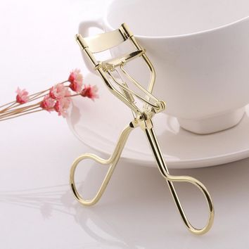High Quality Handle Gold Curl Eye Lash Curler Eyelash Cosmetic Makeup Eyelash Curler Curling Lashes Tools maquiagem