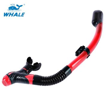 WHALE Snorkeling Scuba Diving Dry Snorkel with Silicone Mouthpiece Purge Valve