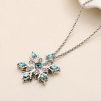 Christmas New Year Gift Stylish Jewelry Shiny Gemstone Silver Christmas Pendant Necklace [9647181071]