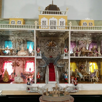 1940's Fairytale Rococo Style Wedding Castle Doll House