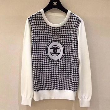 LMFOK3 'CHANEL'' Fashion Wool Top Pullover Sweatshirt