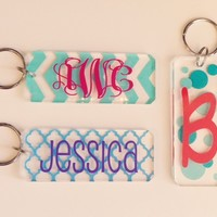 Design Your Own Oblong Acrylic Key Chain