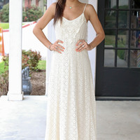 What a Feeling Lace Maxi - Cream