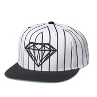 Diamond Supply Co. - Brilliant Pinstripe Snapback - White