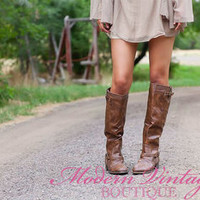 Outlaw Zipper Back Boots