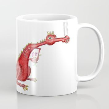 Dragon with flowers Mug by Josep Mestres