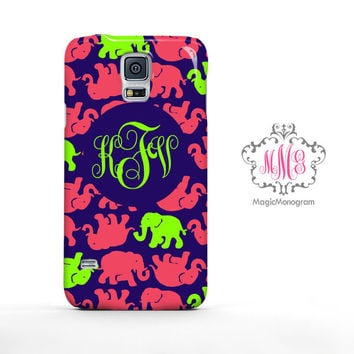 Multi Tusk in Sun Elephant Lilly Pulitzer Monogram Samsung Galaxy S6 Case, Galaxy Note 4 Case