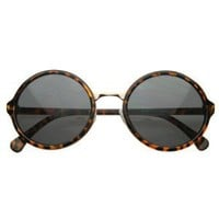 zeroUV - Vintage Inspired Classic Round Circle Sunglasses w/ Metal Bridge