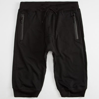 Uncle Ralph Mens French Terry Jogger Shorts Black  In Sizes