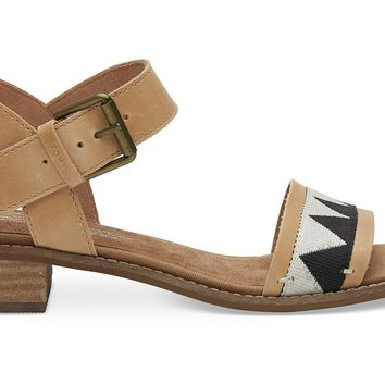 HONEY LEATHER WOMEN'S CAMILIA SANDALS