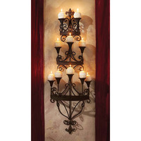 Park Avenue Collection Carbonne Candle Chandelier Wall Sconce