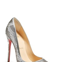 Women's Christian Louboutin 'Kristali' Laser Cut Pointy Toe Pump,