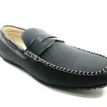 Mens Scans Moccasin Penny Loafers Casual Shoes 68320 Black