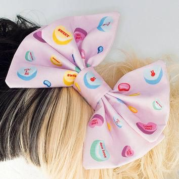 Fairy Kei Sweet Lolita Conversation Hearts Big Hair Bow Headband