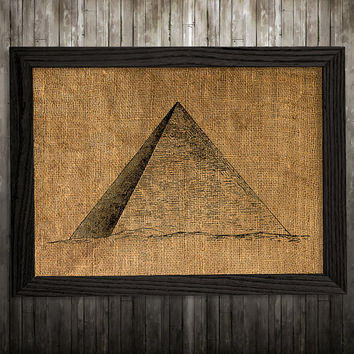 Pyramid poster Esoteric print Magic print Burlap decor BLP924