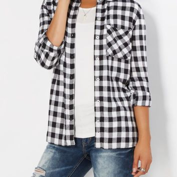 Brushed Buffalo Check Button Down | Plaids & Flannels | rue21
