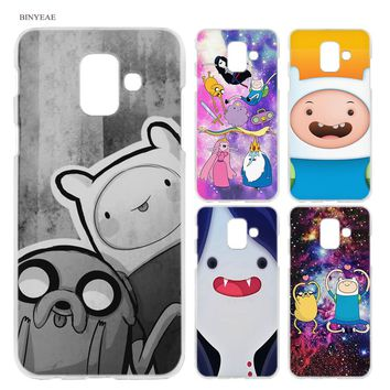 BINYEAE Adventure Time with Finn and Jake Anime Hard Case Cover Fashion for Samsung Galaxy A6 A8 A6+ A8+ Plus J4 J6 J8 2018