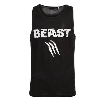 0351e00ec221a Beauty and Beast Couple Vest Men Bodybuilding Fitness Tank Top