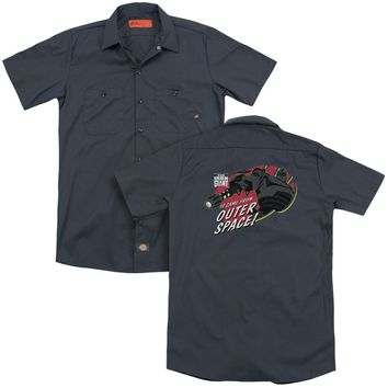 Iron Giant - Outer Space (Back Print) Adult Work Shirt