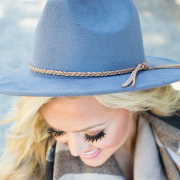 Flat Brimmed Rope Hat Gray