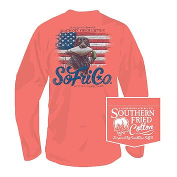 Scout Long Sleeve Tee in Cayenne by Southern Fried Cotton