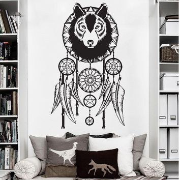 cute wise owls tree wall stickers for kids room decorations nursery cartoon children decals animals Dream Catcher Wallpaper D684