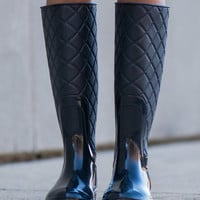 Dancing In The Rain Boots, Black