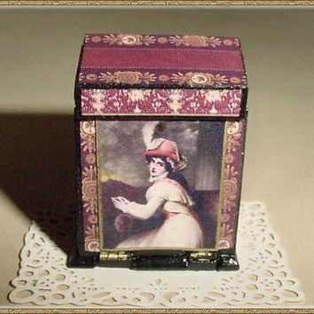 Writing Desk or Vanity Box OOAK Victorian Style - One Inch Scale Dollhouse Miniature