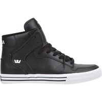 Supra Vaider Mens Shoes Black Action/White  In Sizes