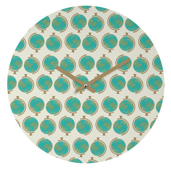 Allyson Johnson Cute Little Globes Round Clock