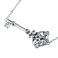Inox 316L Stainless Steel 16 Inch Ornate Skeleton Key Necklace