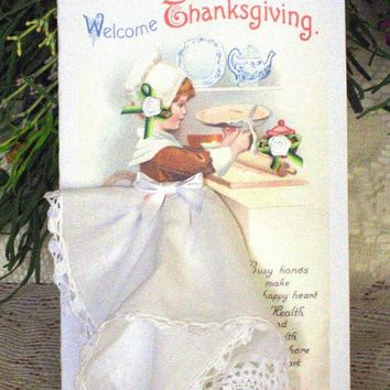 Welcome Thanksgiving Hankie  Card