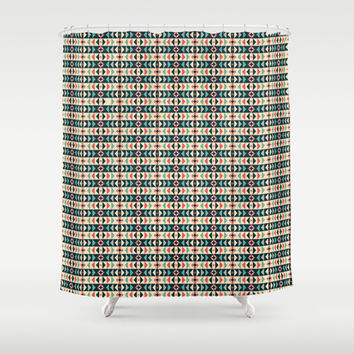 Aztec Pattern 2 Shower Curtain by Tami Art