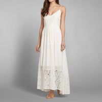 Drapey Lace Maxi Dress