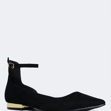 Ankle Strap Pointed Toe Flat