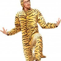 Tiger Hoodie  - Hooded Footed Pajamas - JumpinJammerz.com