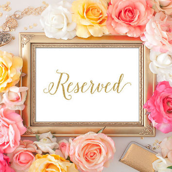 Reserved Signs for Wedding - 5x7
