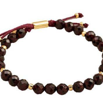 DCCKAB3 Gorjana Garnet Energy Power Gemstone Beaded Bracelet