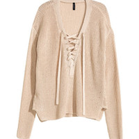 H&M Sweater with Lacing $29.99