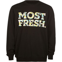 Neff Most Fresh Mens Sweatshirt Black  In Sizes