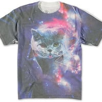 A-Lab Boys Giganticat White Sublimated Tee Shirt