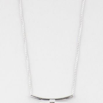 Full Tilt Dainty Crystal Bar Necklace Silver One Size For Women 27426014001