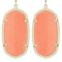 Danielle Earrings in Coral Magnesite - Kendra Scott Jewelry