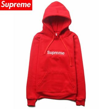 Autumn and winter plus cashmere card lovers fitted Supreme sweater hedging jacket men Red