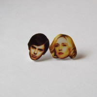 Norman and Norma Bates Earrings Fun Novelty Gag Gift Bates Motel Studs
